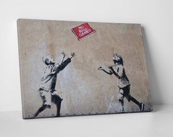 No Ball Games by Banksy Gallery Wrapped Canvas Print. BONUS! BANKSY DECAL!