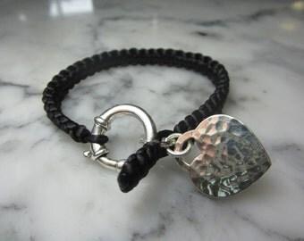 Braided silk bracelet Heart star Velvet Angels Summer Lily friendship gold chain