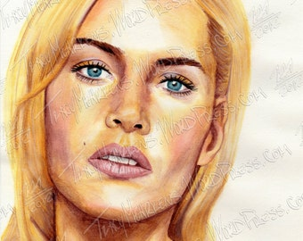Kate Winslet 8.5x11 in. Watercolor Pencil on Paper, 2012