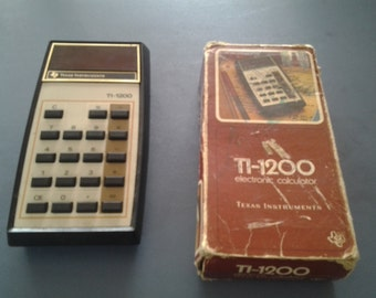 Rare Vintage Texas Instrument Electronic Calculator