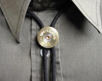 Men's Bolo Tie Brass Shotgun Shell 12 Ga Winchester AA