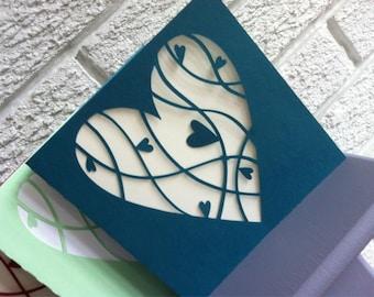 20 x Personalised Papercut Wedding Invitations