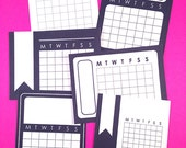 Printable 3x4 Month Calendars - Black and White Journal Cards - Instant Download - Planner Schedule, Journaling, Scrapbooking, Project Life