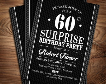 Surprise 40th Birthday Invitation 30th 50th 60th 70th