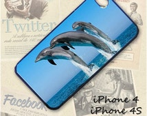 Dolphins cell phone Case / Cover for iPhone 4, 5, Samsung S3, HTC One X, Blackberry 9900, iPod touch 4 / 681
