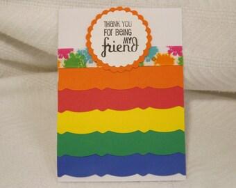 Rainbow Note Card (Friendship) Set of 4