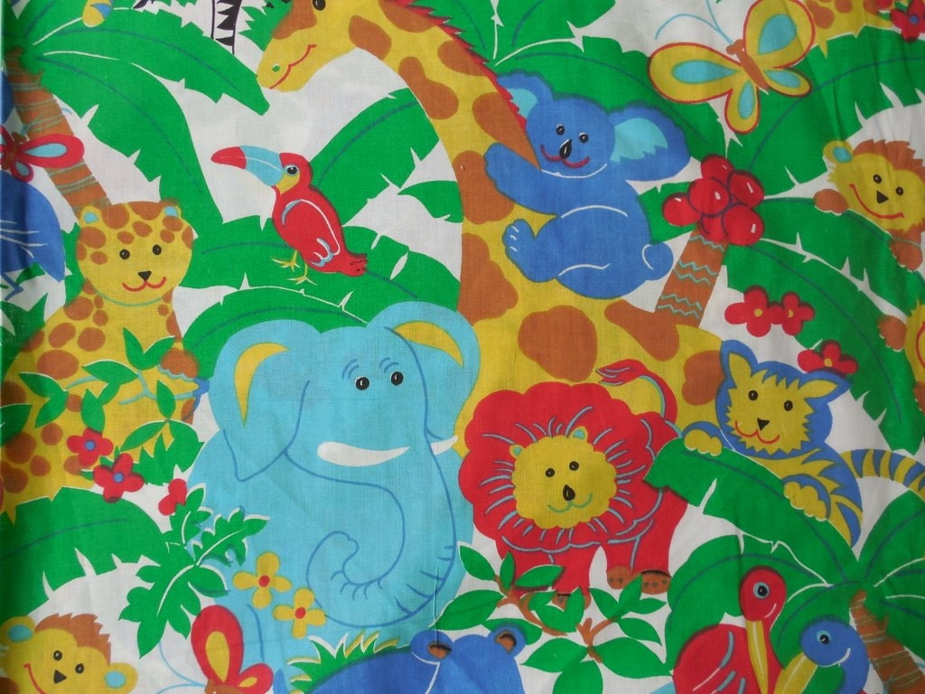 Jungle animal print fabric bing images for Childrens jungle print fabric