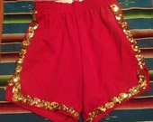 Mystic Lady Sequin Gym Shorts XS