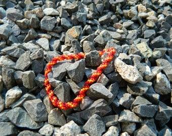"Fire Spiral Beaded Bracelet 8.5"""