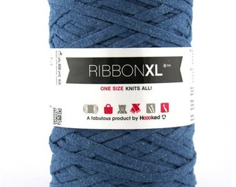 Bulky recycled cotton yarn | Denim Blue