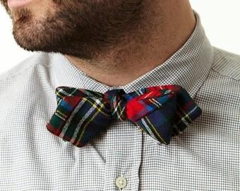 Patchwork Plaid Bow Tie.