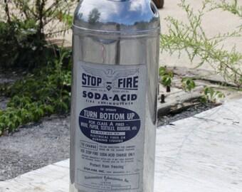 Chrome Fire Extinguisher Home or Business Decor