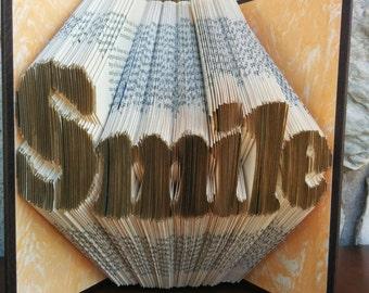 Smile - Folded Book Art - Fully Customizable, Dentist, Orthodontist