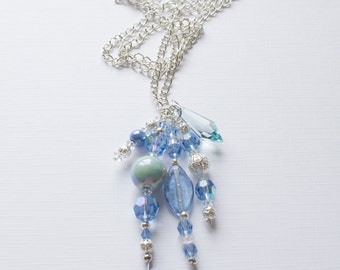 The Icy Blue Necklace - The Mollie Collection