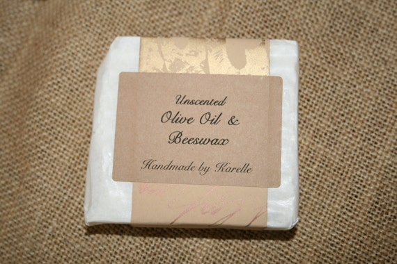 Handmade Olive Oil & Beeswax Soap