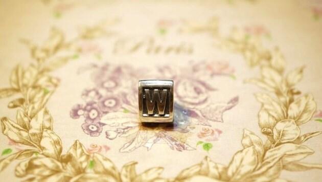 Pandora Charm, 925 silver, sterling silver alphabet