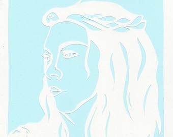 Margaery Tyrell papercut