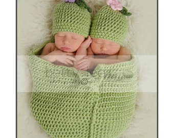 Two peas in a pod Crochet photo prop