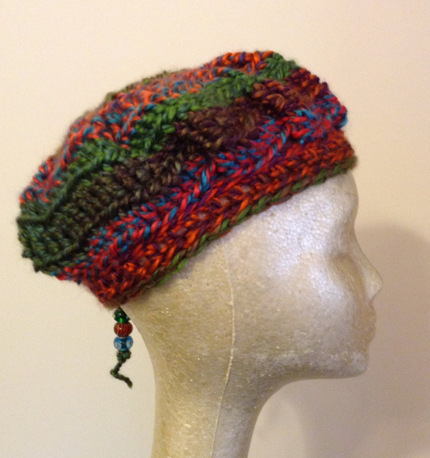 Free Crochet Pattern Multi Colored Hat : Handmade Crochet Multi-Color Hat