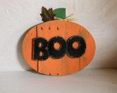 Items similar to BOO Halloween Jack-o- lantern Pumpkin ...