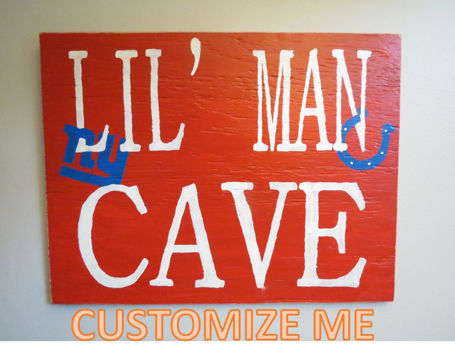 Homemade Man Cave Signs : Lil man cave sign handmade by martypantsmerchants on etsy