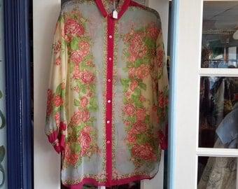Vintage beautiful Renato Nucci sheer blouse