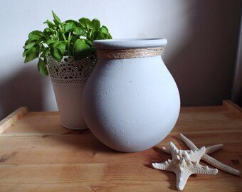 Dove-Grey Pottery Vase