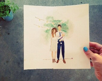 Self/family portraits out of watercolor