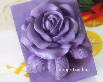 Rose Flower DIY Soap mold silicone molds Handmade resin Clay mould