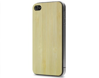 iPhone 4 / 4s #WoodBack Real Wood Skin - Bamboo (FREE and Fast Delivery)