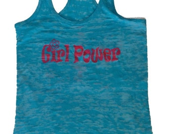 Girl Power Blue Tank