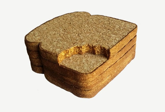 Items Similar To Personalized Bread Drink Coasters With