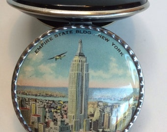 Rare 1930's Vintage Empire State Building Namco Line Makeup Compact