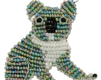 Beaded Koala Keychain or Zipper Pull