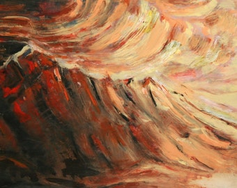 Expressionism oil painting landscape