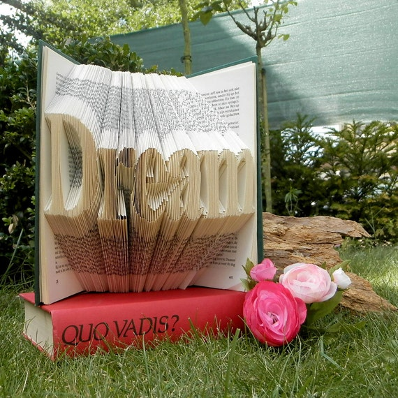 Items Similar To Dream Folded Book Art Book Sculpture