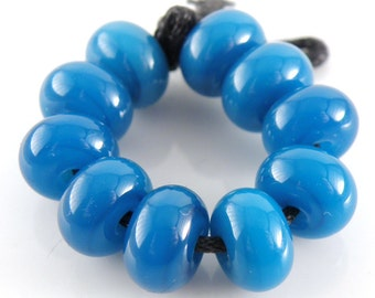 CiM Atlantis Made to Order SRA Lampwork Handmade Artisan Glass Spacer Beads Set of 10 5x9mm