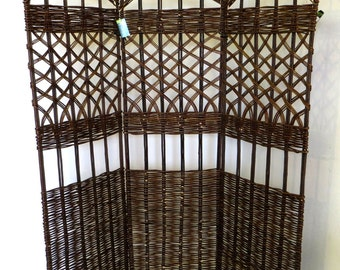 "Willow Screen, 3 Panel Divider, 54""W x 60""H, WSC-60"