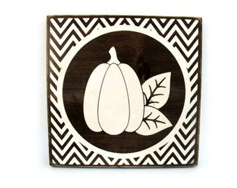 Fall Autumn Thanksgiving Halloween Pumpkin Rustic Wood Sign Wall Hanging Home Decor (#1206)
