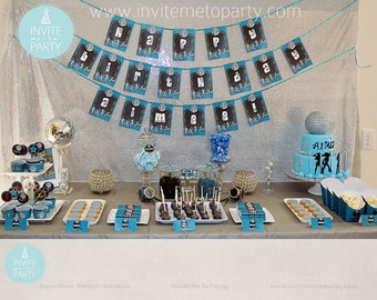 Aqua Disco Party Printable Decorations / Dance Party