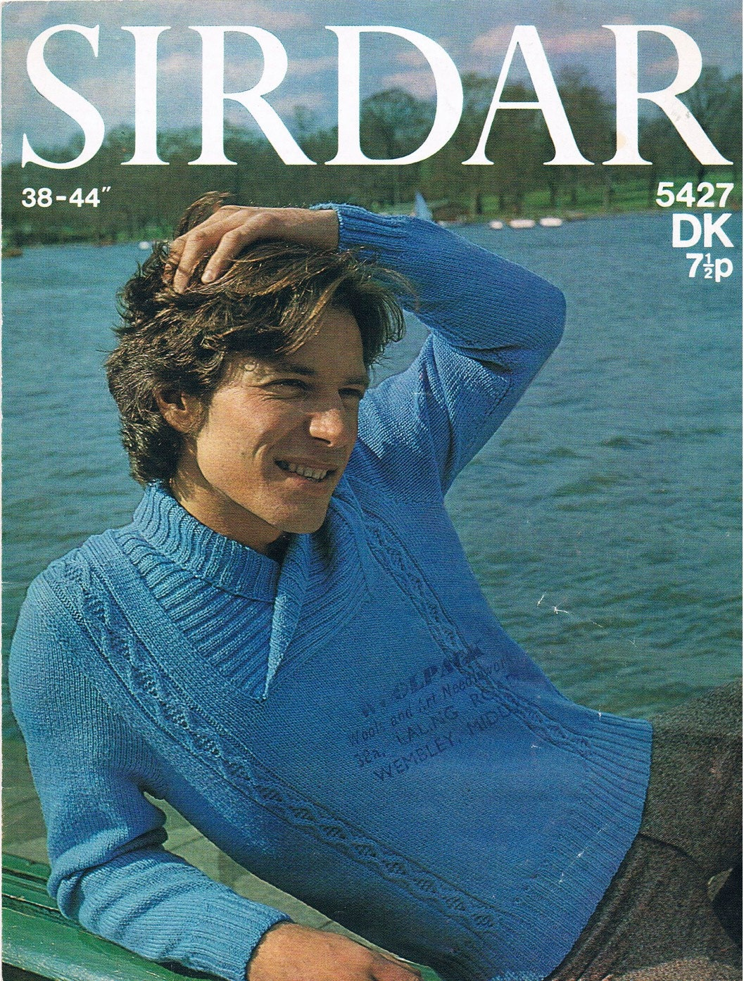 Old Sirdar Knitting Patterns : Vintage Knitting Pattern PDF: 1980s Sirdar Mens Shawl Collared