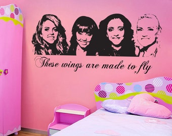 Little Mix - Wall sticker - Children's Bedroom - Vinyl Decal - Silhouette