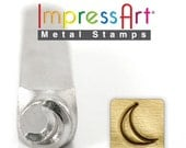 ImpressArt Moon Metal Design Stamp 6mm, metal stamping for jewelry