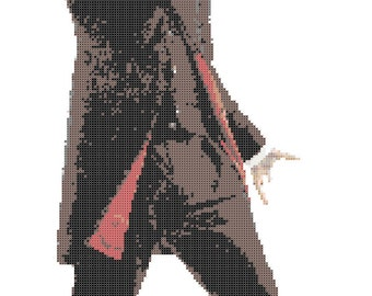 12th Doctor, Peter Capaldi (Doctor Who) -- Counted Cross Stitch Chart -- 3 Patterns!