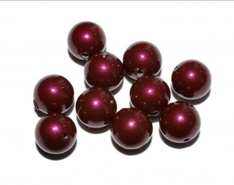 10 pc/6 mm Swarovski Elements Pearls (5810) Blackberry