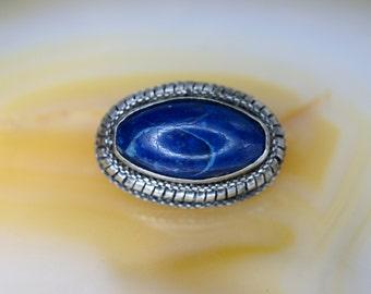 Sterling and Lapis Lazuli Pin
