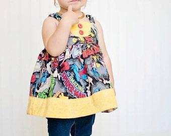 Banksia Play Dress, PDF Dress Pattern, Ruffled Dress, Girls Dress Pattern Sizes 12M to 8