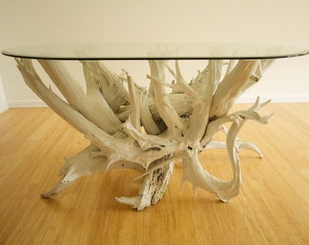 Large Driftwood Dining Table. Handmade from Reclaimed Driftwood