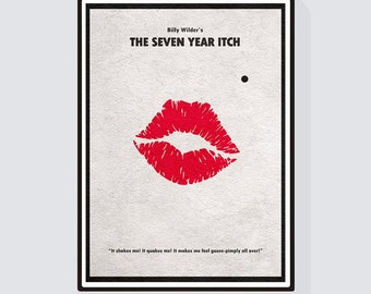 The Seven Year Itch - Marilyn Monroe Minimalist Alternative Movie Print & Poster