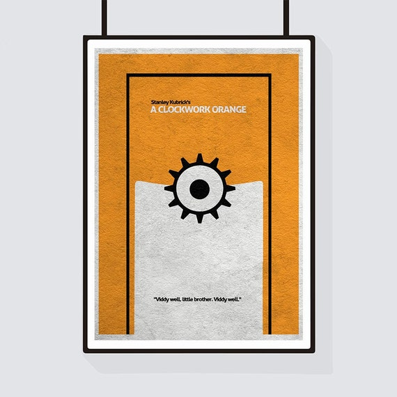 A Clockwork Orange Minimalist Alternative Movie Print & Poster A Clockwork Orange Minimalist Poster